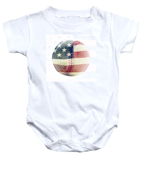 American Baseball Baby Onesie by Terry DeLuco
