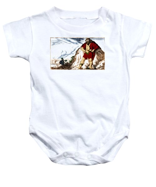 Atlas And Perseus, Greek Mythology Baby Onesie by Photo Researchers