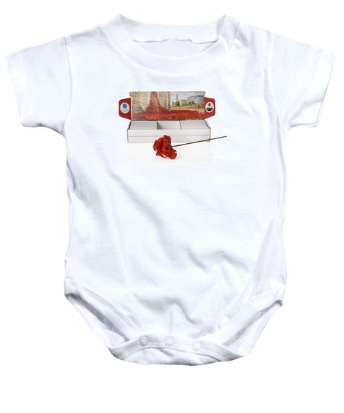 Blood Swept Lands And Seas Of Red Baby Onesie by Amanda Elwell