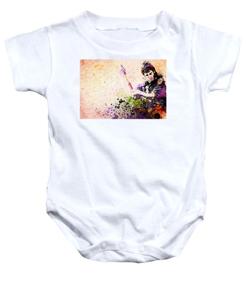 Bruce Springsteen Splats 2 Baby Onesie by Bekim Art