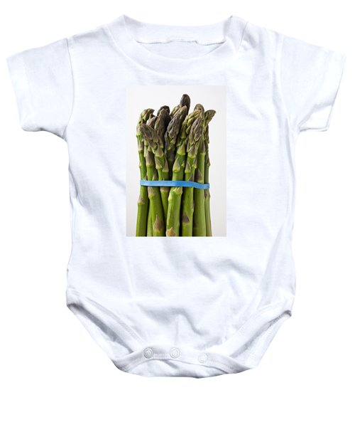 Bunch Of Asparagus  Baby Onesie by Garry Gay