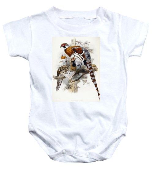 Elliot's Pheasant Baby Onesie by Joseph Wolf