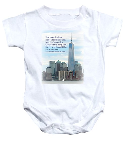 Freedom On The Rise Baby Onesie by Stephen Stookey