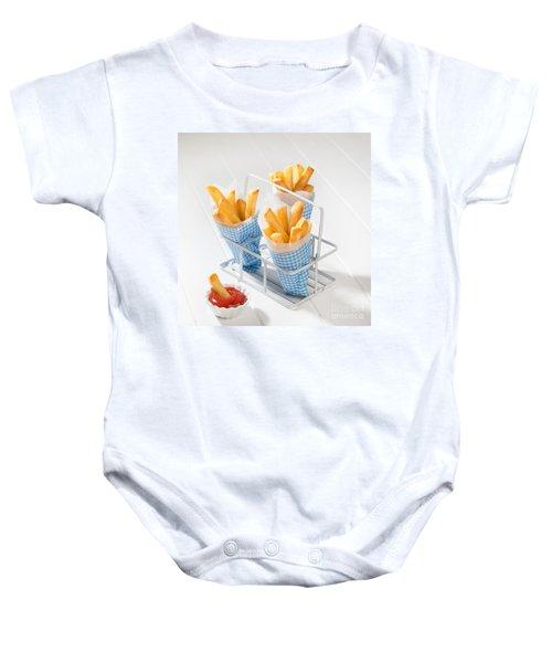 Fries Baby Onesie by Amanda Elwell