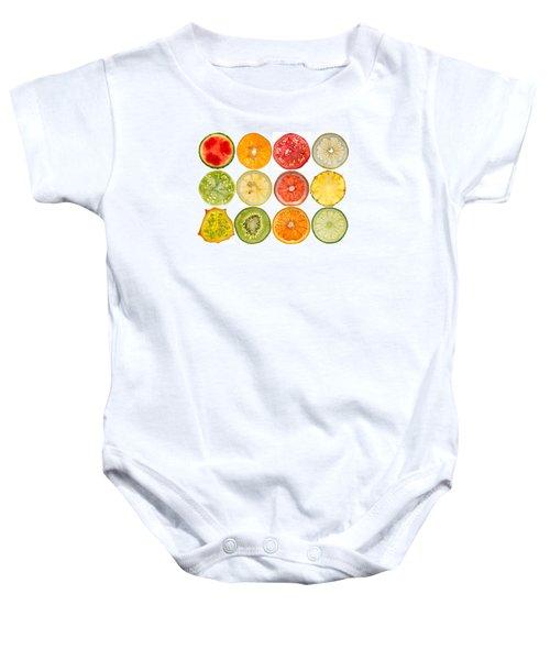 Fruit Market Baby Onesie by Steve Gadomski