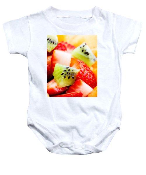 Fruit Salad Macro Baby Onesie by Johan Swanepoel