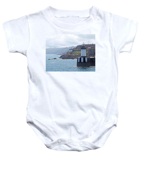 Guernsey Lighthouse Baby Onesie by Gill Billington