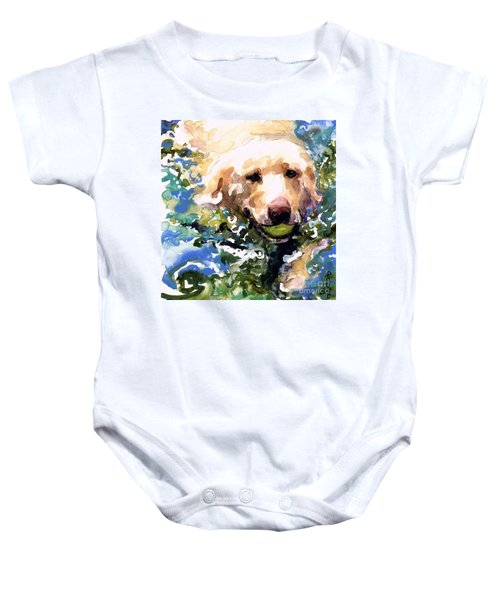 Head Above Water Baby Onesie by Molly Poole