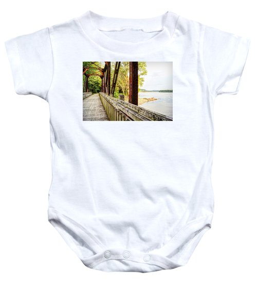 Katy Trail Near Coopers Landing Baby Onesie by Cricket Hackmann