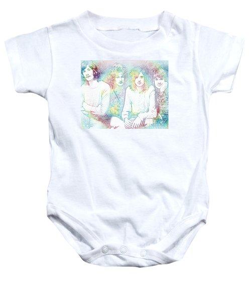 Led Zeppelin Tie Dye Baby Onesie by Dan Sproul