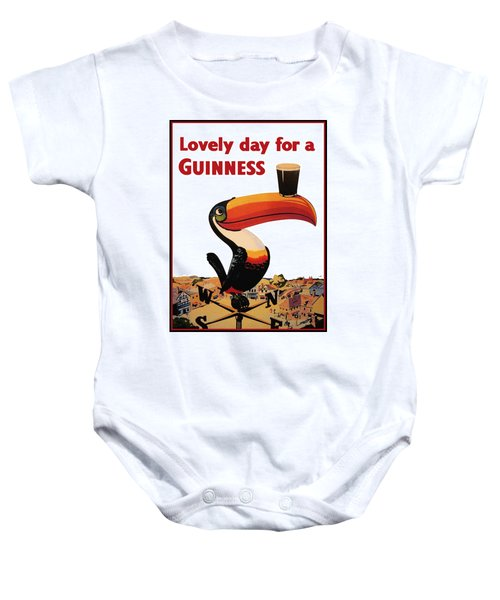 Lovely Day For A Guinness Baby Onesie by Nomad Art