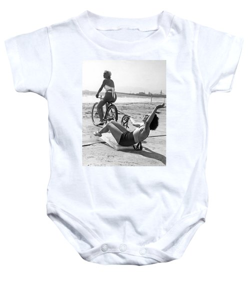New Sport Of Ice Planing Baby Onesie by Underwood Archives