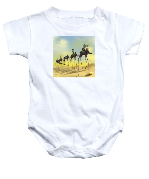On The Move 2 Without Moon Baby Onesie by Mike McGlothlen