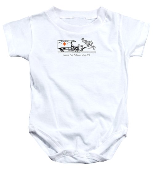 Pegasus At Work For The Allies Baby Onesie by War Is Hell Store