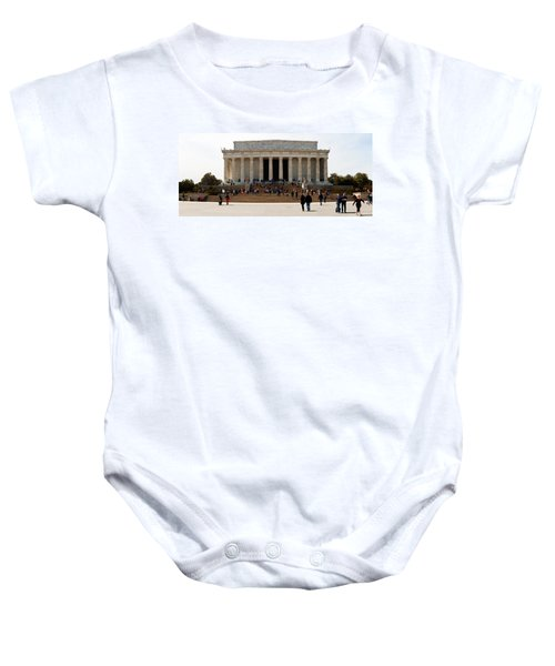 People At Lincoln Memorial, The Mall Baby Onesie by Panoramic Images