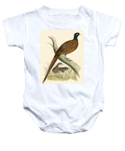 Pheasant Baby Onesie by Beverley R Morris