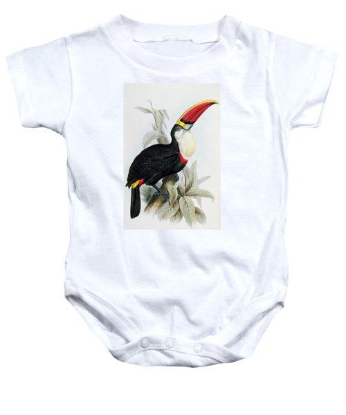 Red-billed Toucan Baby Onesie by Edward Lear