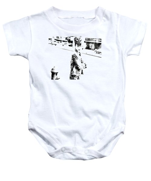 Rihanna Hanging Out Baby Onesie by Brian Reaves