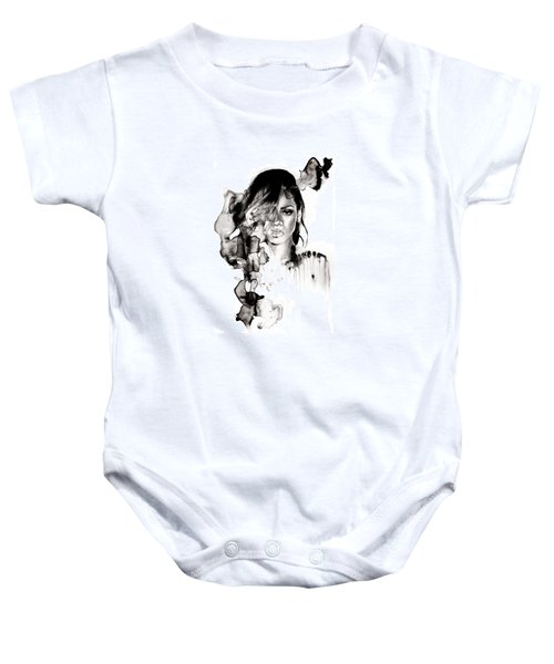 Rihanna Stay Baby Onesie by Molly Picklesimer