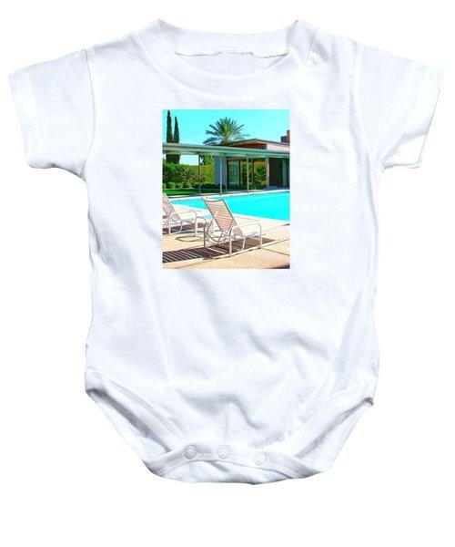 Sinatra Pool Palm Springs Baby Onesie by William Dey