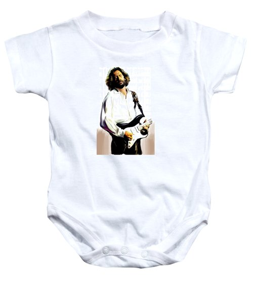 Slow Hand  Eric Clapton Baby Onesie by Iconic Images Art Gallery David Pucciarelli