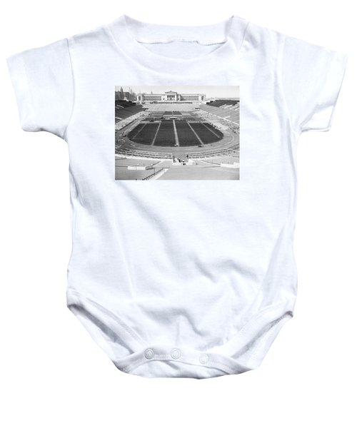 Soldier's Field Boxing Match Baby Onesie by Underwood Archives