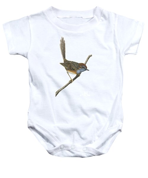 Southern Emu Wren Baby Onesie by Anonymous