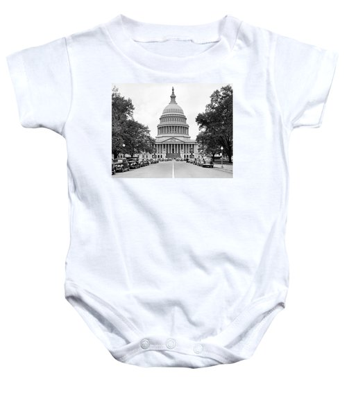 The Capitol Building Baby Onesie by Underwood Archives