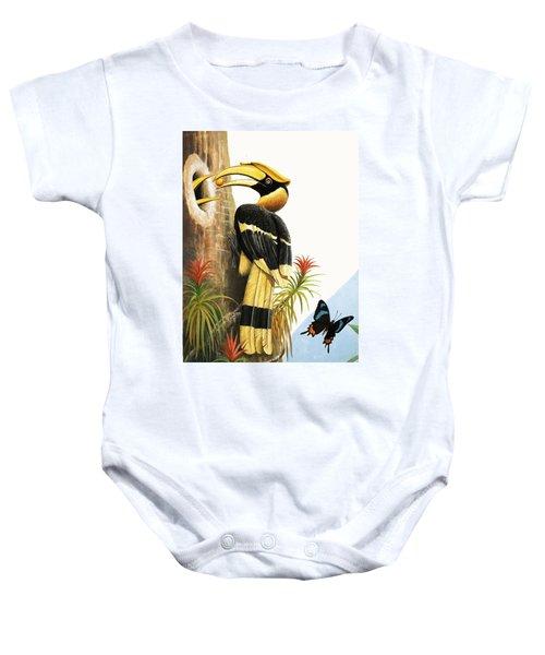 The Hornbill Baby Onesie by R.B. Davis