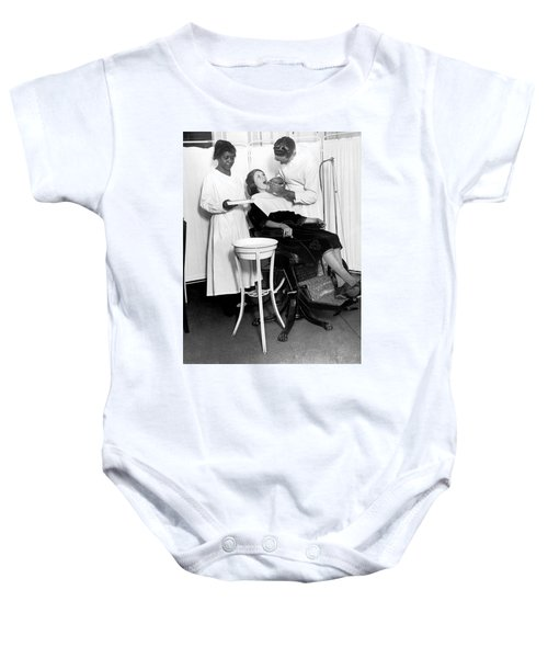 The North Harlem Dental Clinic Baby Onesie by Underwood Archives