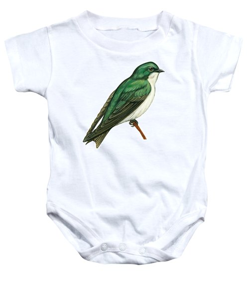 Tree Swallow  Baby Onesie by Anonymous