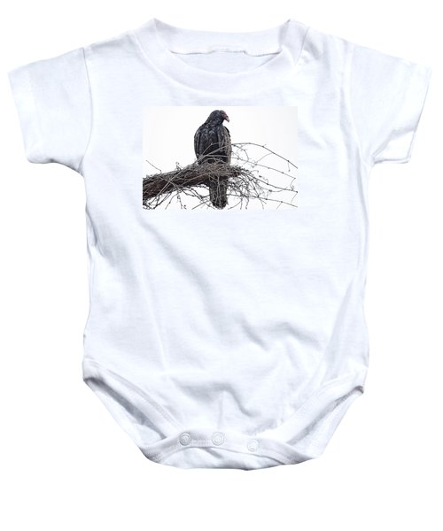 Turkey Vulture Baby Onesie by Douglas Barnard