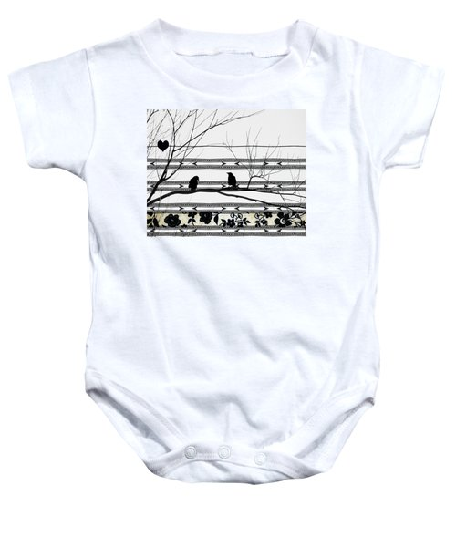Two Is Better Baby Onesie by Gothicolors Donna