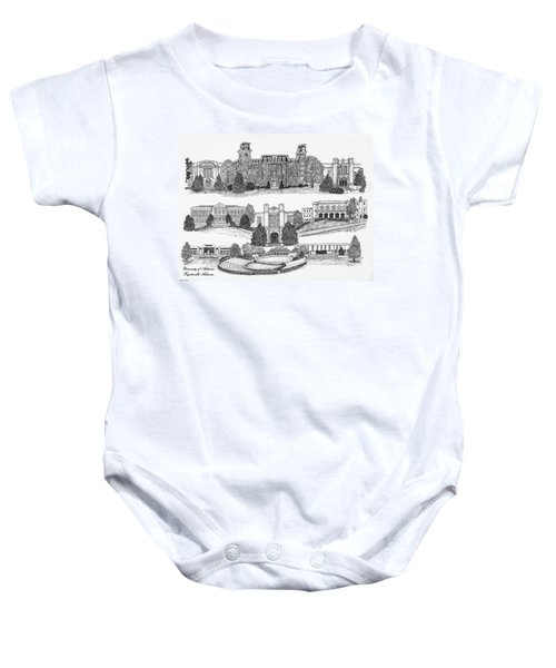 University Of Arkansas Fayetteville Baby Onesie by Liz  Bryant