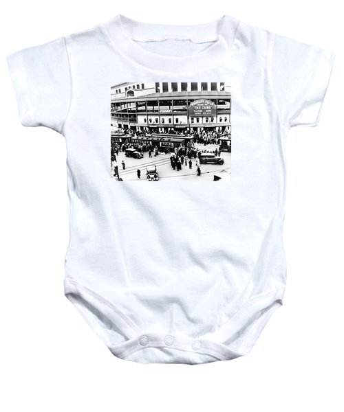 Vintage Wrigley Field Baby Onesie by Bill Cannon
