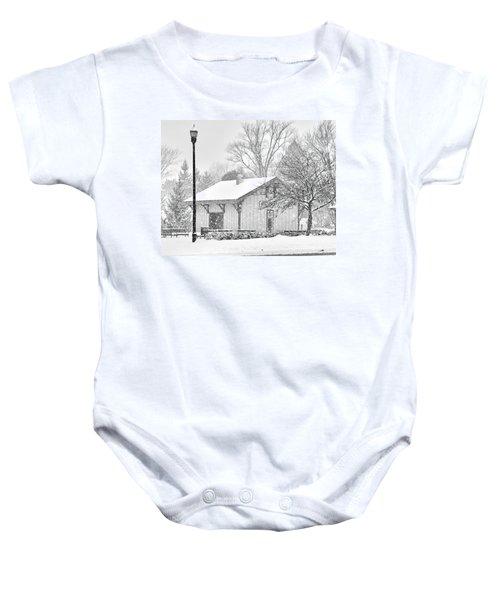 Whitehouse Train Station Baby Onesie by Jack Schultz