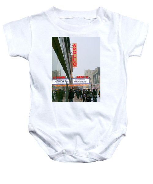 Wintry Day At The Apollo Baby Onesie by Ed Weidman