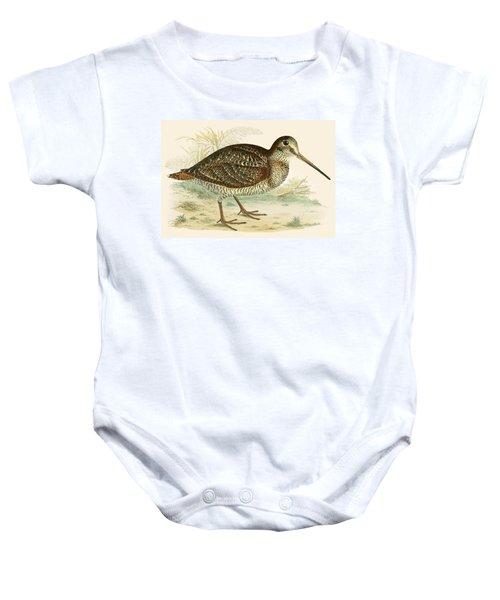 Woodcock Baby Onesie by Beverley R Morris
