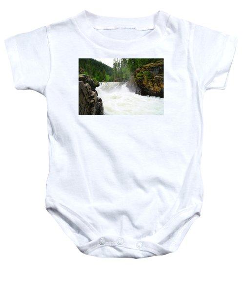 Yaak Falls Baby Onesie by Jeff Swan