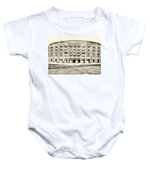 Yankee Stadium Baby Onesie by Bill Cannon