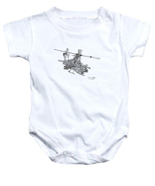 Bell Ah-1z Viper Baby Onesie by Arthur Eggers