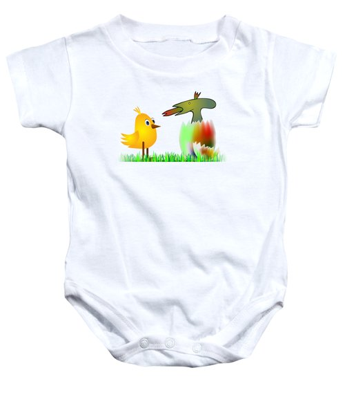 Close Encounters Of The Third Kind Baby Onesie by Michal Boubin