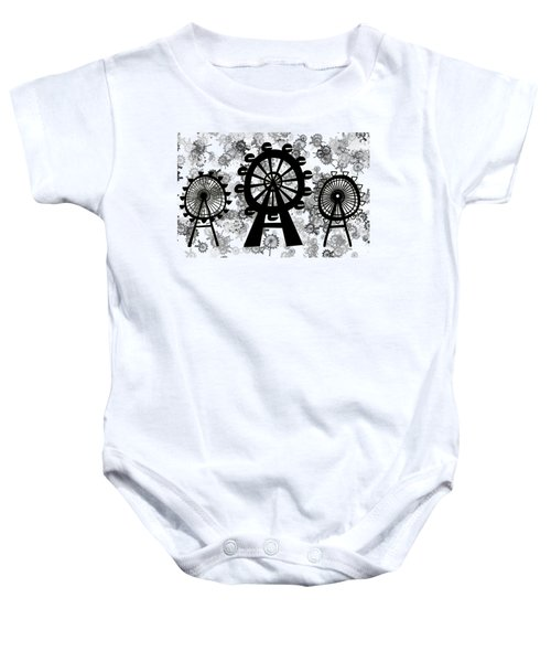 Ferris Wheel - London Eye Baby Onesie by Michal Boubin
