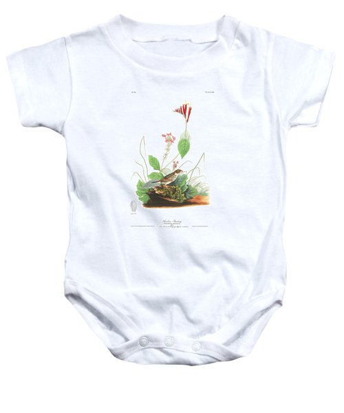 Henslow's Bunting  Baby Onesie by John James Audubon
