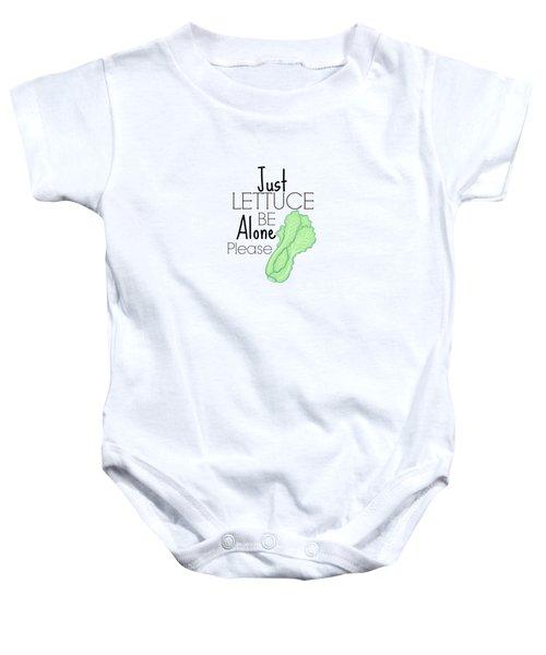Lettuce Be  Baby Onesie by Lunar Harvest Designs