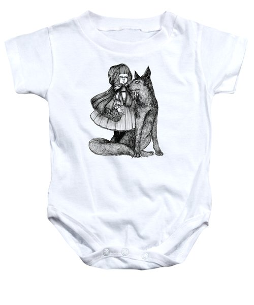 Little Red Riding Hood Baby Onesie by Akiko Okabe