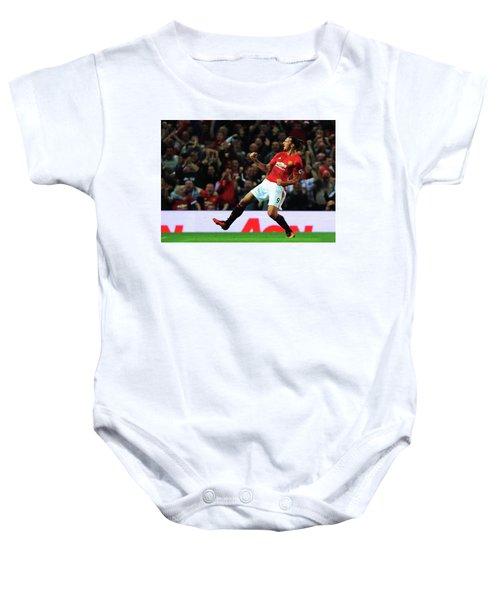 Manchester United's Zlatan Ibrahimovic Celebrates Baby Onesie by Don Kuing