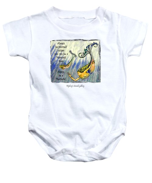 Mermaid Baby Onesie by W Gilroy