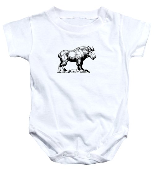 Mountain Goat Baby Onesie by Mordax Furittus