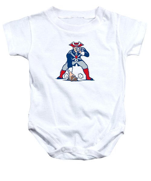 New England Patriots Parody Baby Onesie by Joe Hamilton